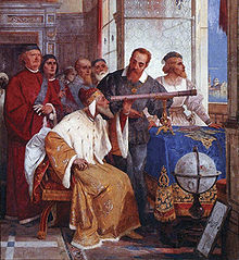 Galileo demonstrates the telescope